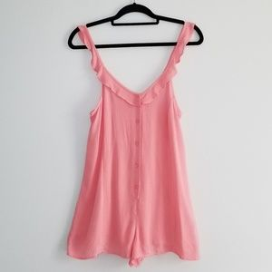 Topshop pink sleeveless romper size small NWT